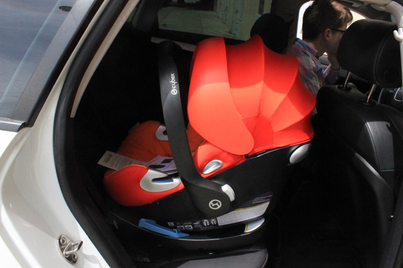 car seat in car
